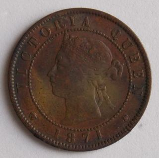 1871 Large 1 Cent Prince Edward Island Pei Canada Canadian Victoria Coin photo