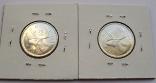1963 And 1964 Canadian Quarters Proof - Like (6f) photo