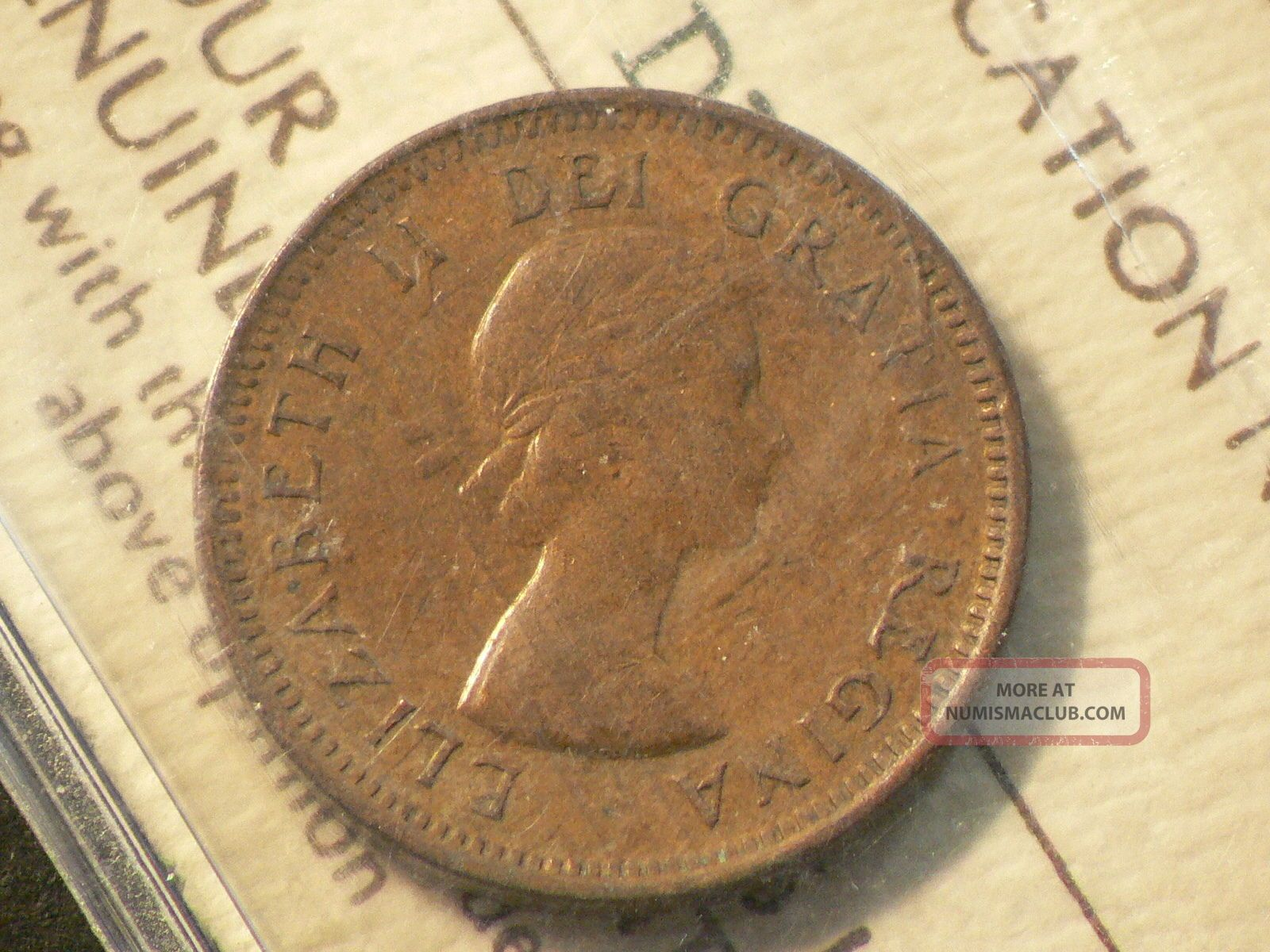 Canada 1955 One 1 Cent Iccs F 12 No Shoulder Fold 2660