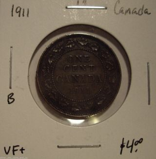 B Canada George V 1911 Large Cent - Vf, photo