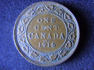 1916 - Canada - Large - One - Cent - Coin -  - Canadian - Penny - F18 photo