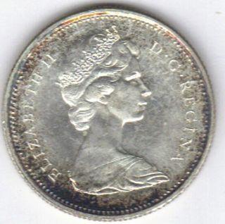 Canadian Centennial 1867 - 1967 80 Silver Quarter photo