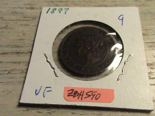 1897 Canadian Large Cent - Zbh590 photo