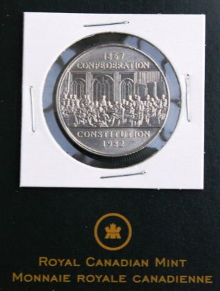 1982 Canada One Dollar $1.  00 Coin 1867 - 1982 Confederation Constitution photo