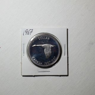 Canadian Silver Dollar Year 1967 photo
