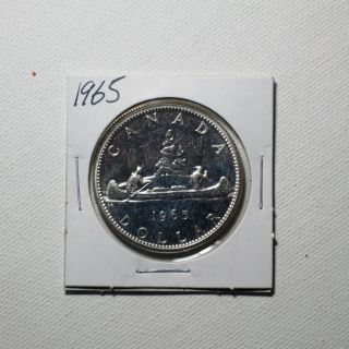Canadian Silver Dollar Year 1965 photo