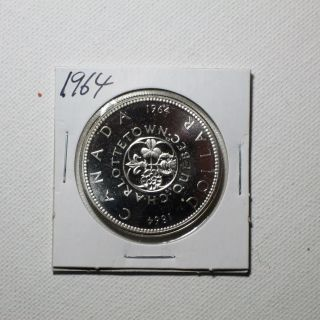 Canadian Silver Dollar Year 1964 photo