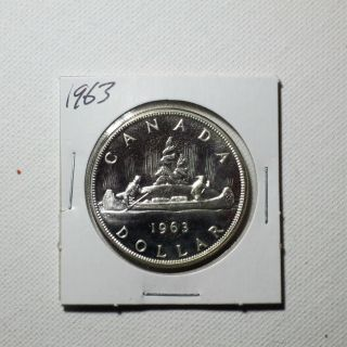 Canadian Silver Dollar Year 1963 photo