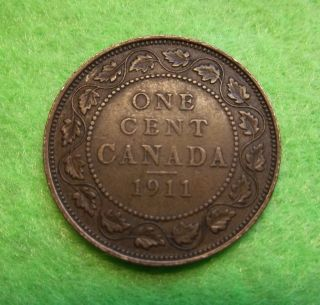 1911 Circulated Canadian Large Cent Ungraded photo