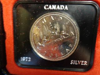 1972 Canada Silver Dollar Coin photo