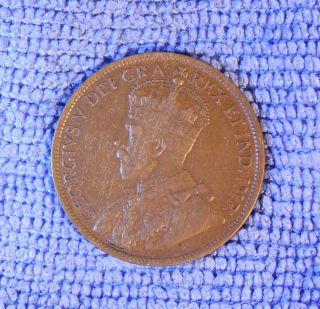Canadian 1919 Large Penny (average Grade) photo
