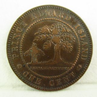 1871 Prince Edward Island One Cent Canada Queen Victoria Only Year Higher Grade photo