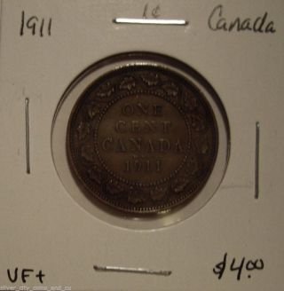 Canada George V 1911 Large Cent - Vf, photo