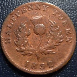 Nova Scotia 1832 1/2 Penny Token Thistle Ns - 1d1,  Br871 George Iv photo