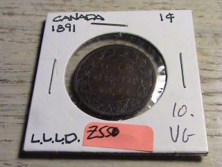 1891 Canadian Large Cent - Llld Variety Zbh550 photo