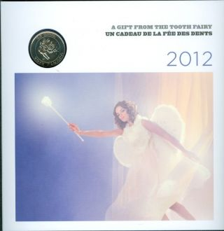 2012 Twenty Five 25 Cent Tooth Fairy Quarter Rcm Canada Canadian Gift Pack F1 photo