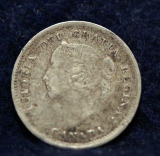 Canada,  1888 5 Cents,  Silver,  Fine, photo