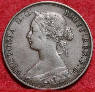 1861 Nova Scotia Canada One Cent Foreign Coin S/h photo