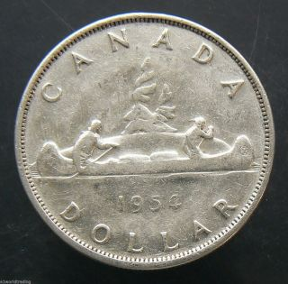 1954 Canada Silver Dollar Coin photo