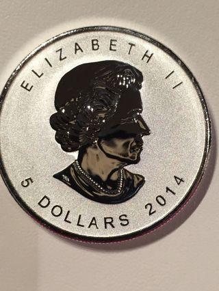 2014 5 Dollar Canada 1oz.  9999 Fine Silver photo