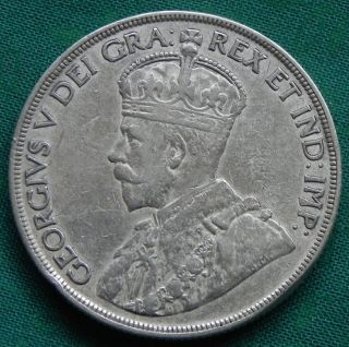 Canadian 1936 King George V 80 Silver Dollar 3 photo
