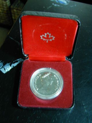 One Canada Silver Dollar 1980 Uncirculated Prooflike photo