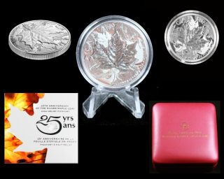 2013 Canada Silver 25th Anniversary Maple Leaf 1oz High Relief Piedfort Proof photo