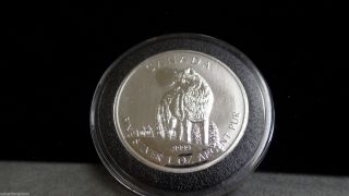 2011 Canada Wolf $5 Dollar 1 Oz.  999 Silver Coin photo