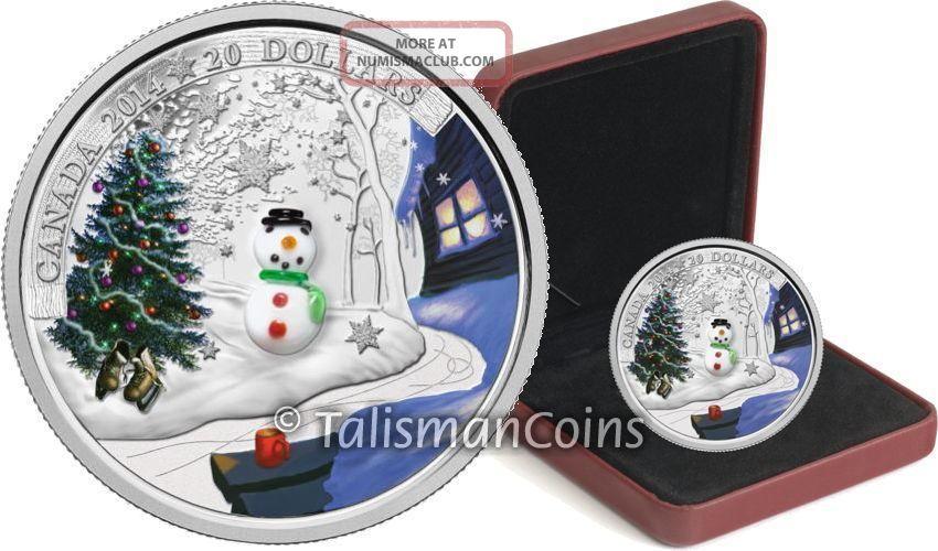 Canada 2014 Murano Venetian Glass Holiday Snowman 20