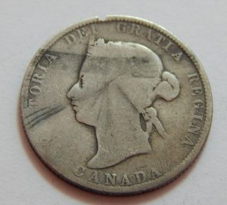 1874 - H Canada Canadian Sterling Silver 25 Cent Coin Quarter -.  1782 Troy Oz Asw photo