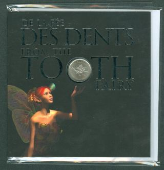 2011 Twenty Five 25 Cent Tooth Fairy Quarter Rcm Canada H1 photo