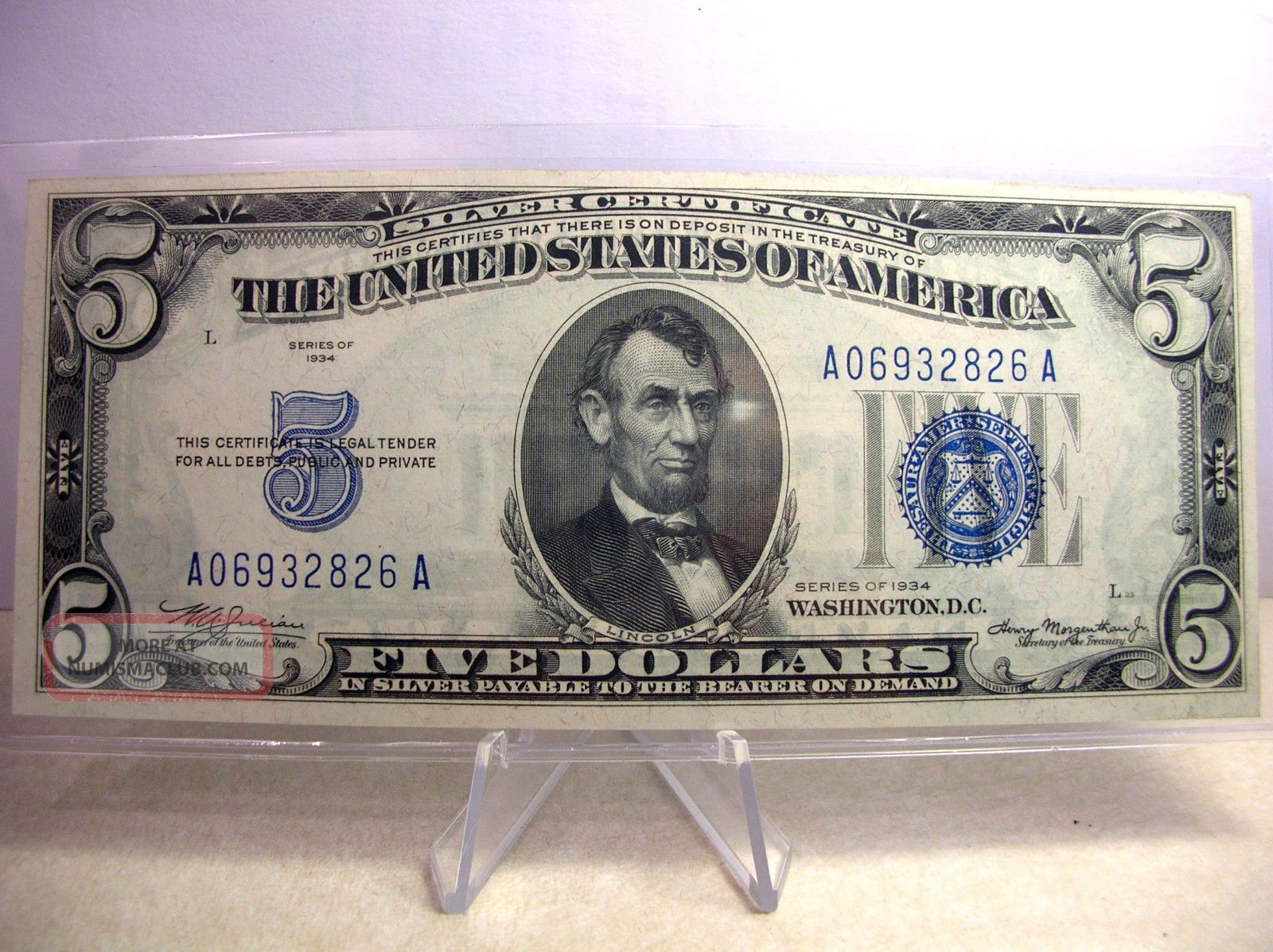5 1934 Silver Certificate Note Take A Look