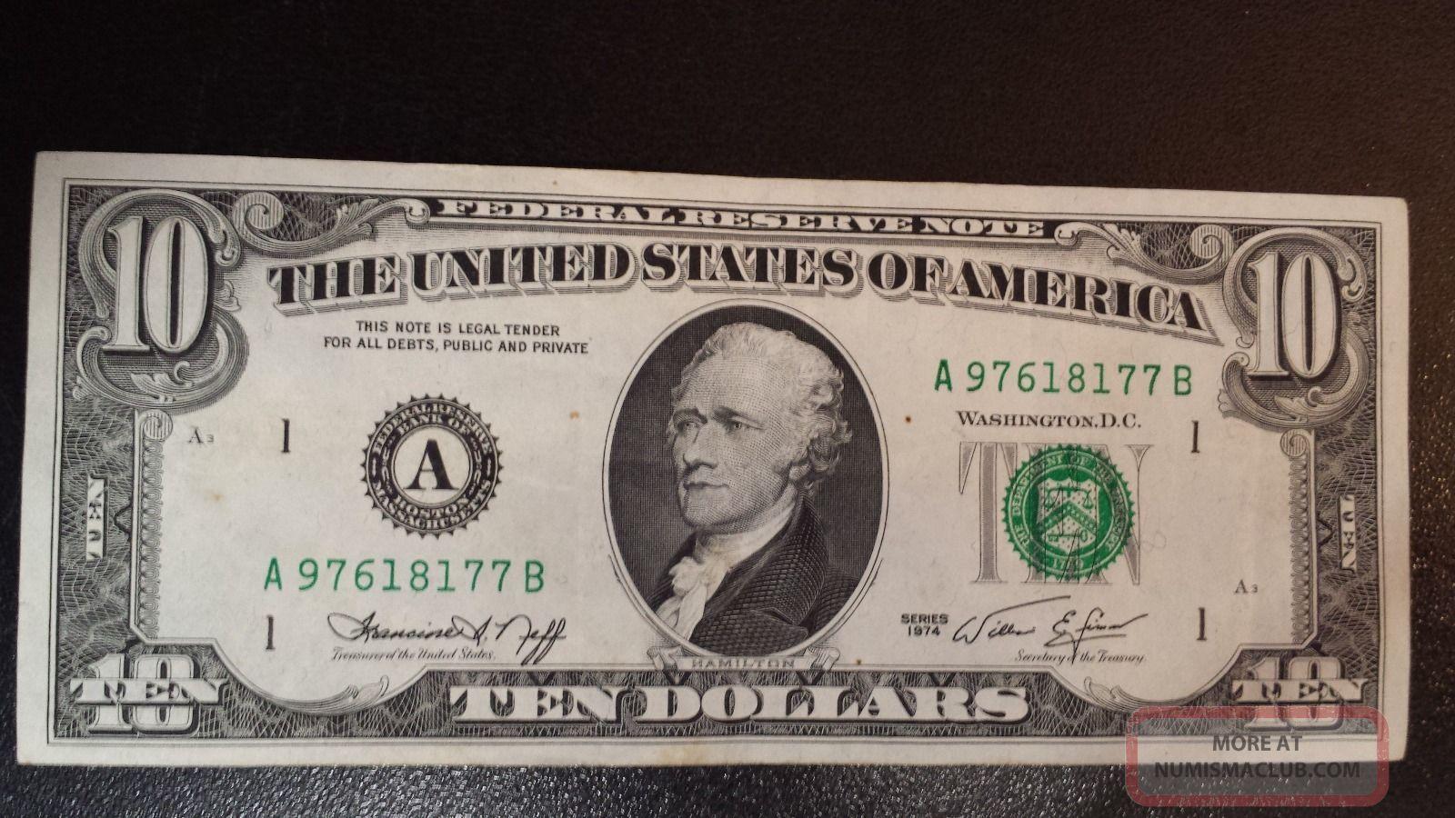 10 Dollar Bill 1974