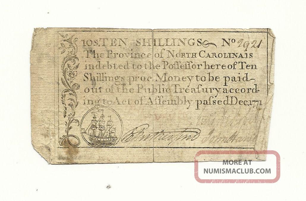 Rare 1771 North Carolina