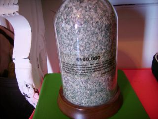 Vintage Glass Money Dome Full Of Shredded U.  S.  Currency Of $100,  000 photo