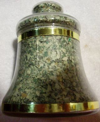 Vintage Glass Liberty Bell Filled With Shredded U.  S.  Currency (1976 Novelty) photo