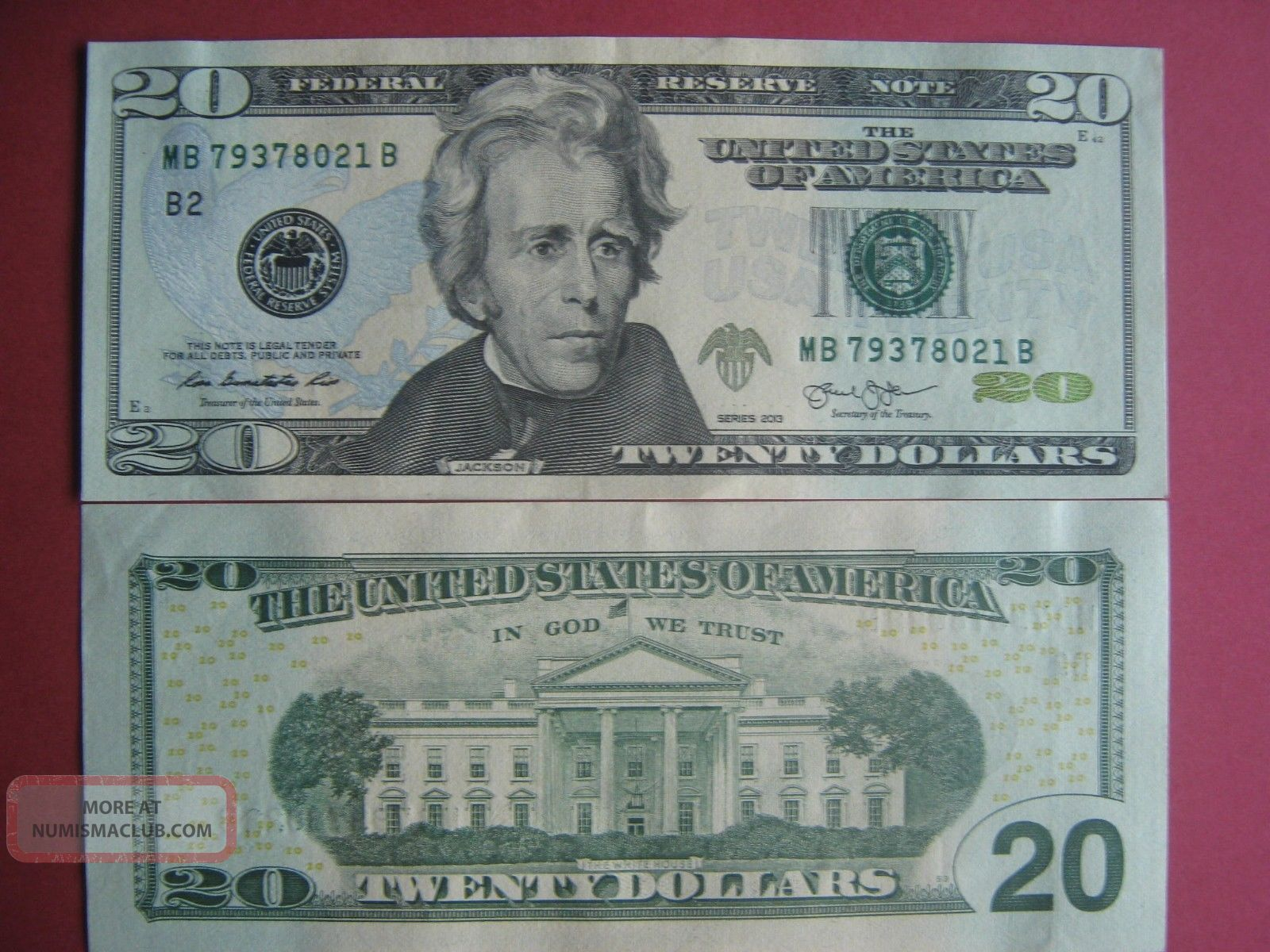 Picture of a real 20 dollar bill