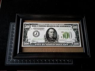 $500 Federal Reserve Note - Mckinley - Series 1934 - Oversize Reproduction Framed photo