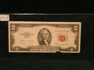 Dollar Bill Old Us Note Red Seal P O