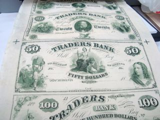 Richmond Virginia{traders Bank}$20,  $20,  $50.  And $100.  00 Dollars