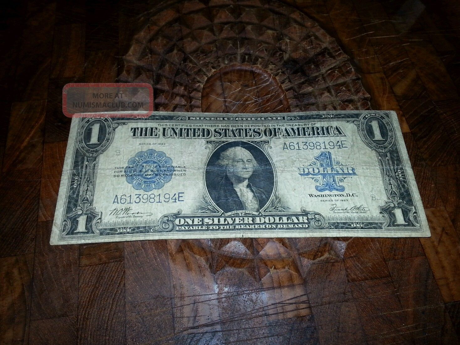 1923 1 Large Size Silver Certificate One Dollar Bill Currency Banknote