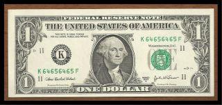 Big ' D ' Repeater Note Washington Dollar Bill 2003 A Crisp Unc photo