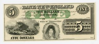 1800 ' S $5 The Bank Of - England At Goodspeed ' S Landing - Connecticut Note Cu photo