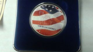 One Coin In Case: 2001 God Bless America Silver Dollar - Uncirculated photo