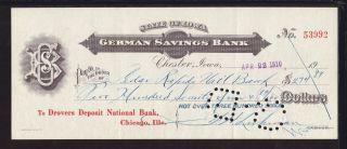 1910 German Savings Bank - Chester,  Iowa photo