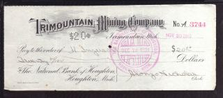1901 Trimountain Mining Company - Trimountain,  Michigan photo