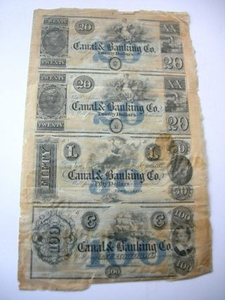 1800 ' S Orleans Canal & Banking Co Bank Obsolete Currency Remainder Sheet photo