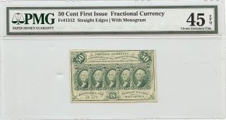 50 Cent - First Issue Fractional Currency - Prof Graded Ch - Ex Fine - 45 - Epq photo