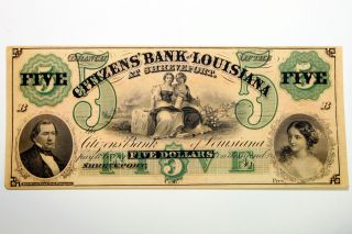 Up Is One Obsolete Citizen ' S 1857 Bank Of Louisiana At Shreveport - Cu photo