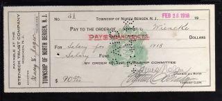 1918 Steneck Trust Company - Township Of North Bergen,  N.  J. photo